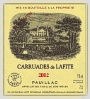 Ch Carruades De Lafite Pauillac Bordeaux Red 		 			 				 			 			rp Rating 90 			 			ws 93