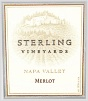 Sterling Winery Merlot Etched Bottle