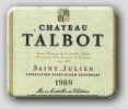 Bordeaux St. Julien Talbot 4th Growth Wa 88